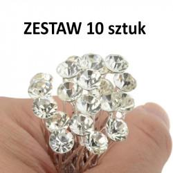 ZESTAW 10 szt srebrnych...