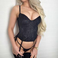 Czarny gorset mesh seksi...