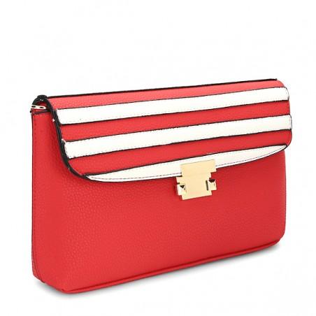 Czerwona torebka białe...