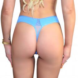 Stringi damskie niebieskie...